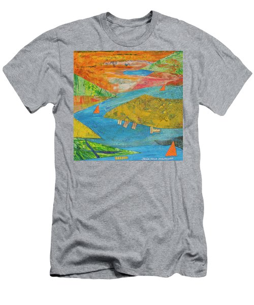 Sunset Sails 1 Men's T-Shirt (Athletic Fit)