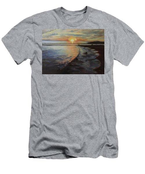 Sunset Sea Men's T-Shirt (Athletic Fit)