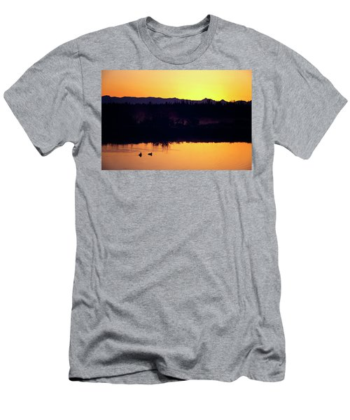 Sunset Swim Men's T-Shirt (Athletic Fit)