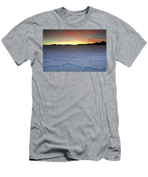 Lake Uyuni Sunset Texture Men's T-Shirt (Athletic Fit)