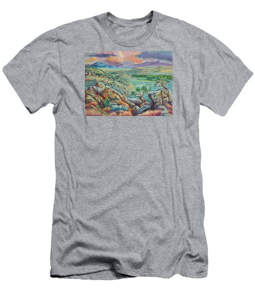 Sunset View From The Cedar Breaks Men's T-Shirt (Slim Fit) by Dawn Senior-Trask