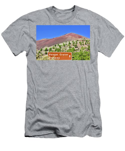 Sunset Crater Volcano Men's T-Shirt (Athletic Fit)