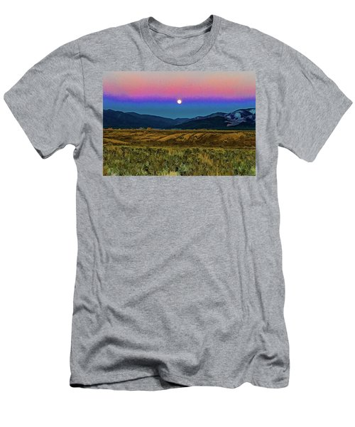 Super Moon Over Taos Men's T-Shirt (Athletic Fit)