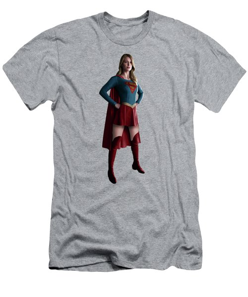 Supergirl Splash Super Hero Series Men's T-Shirt (Athletic Fit)