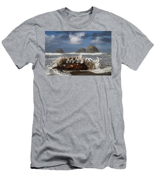 Surf And Three Arch Rocks Men's T-Shirt (Athletic Fit)