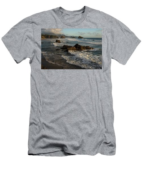 Surf At Crescent Beach Men's T-Shirt (Athletic Fit)