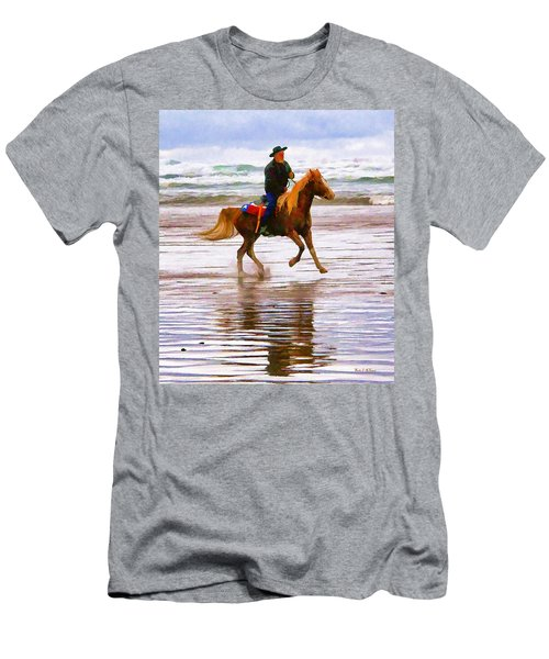 Men's T-Shirt (Slim Fit) featuring the photograph Surf Rider by Wendy McKennon