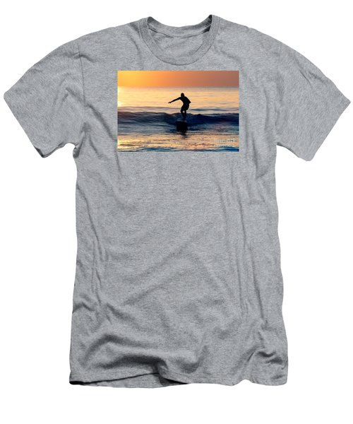 Surfer At Dusk Men's T-Shirt (Athletic Fit)