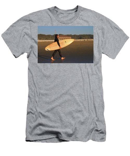 Surfer At Ocean Beach Men's T-Shirt (Athletic Fit)
