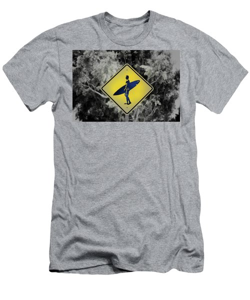 Surfer Xing Men's T-Shirt (Slim Fit) by Joseph S Giacalone