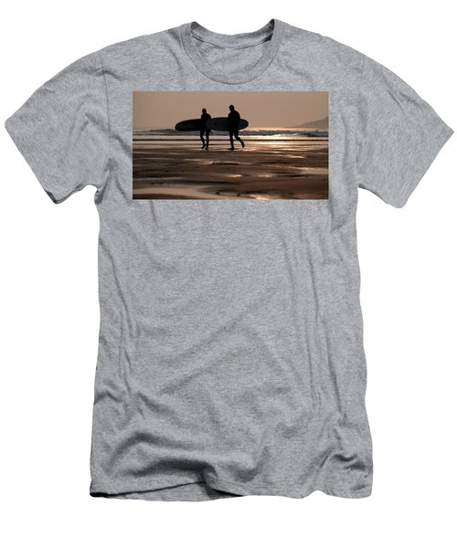 Surfers At Sunset Men's T-Shirt (Athletic Fit)