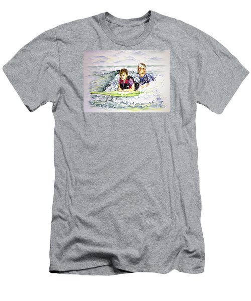 Surfers Healing Men's T-Shirt (Slim Fit) by William Love
