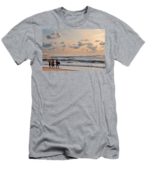 Surfing At Sunrise On The Jersey Shore Men's T-Shirt (Athletic Fit)