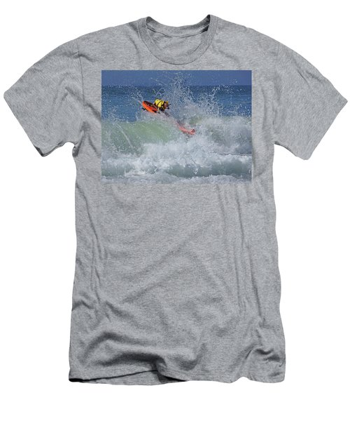 Surfing Dog Men's T-Shirt (Slim Fit) by Thanh Thuy Nguyen