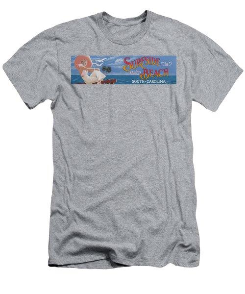 Surfside Beach Sign Men's T-Shirt (Slim Fit) by Barbara McDevitt