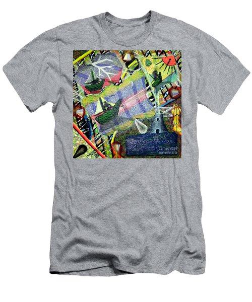 Surrealism Of The Souls Men's T-Shirt (Slim Fit) by Luke Galutia