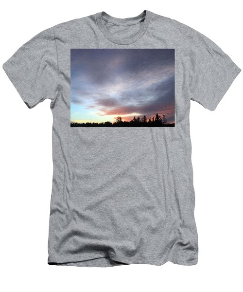 Suspenseful Skies Men's T-Shirt (Slim Fit) by Audrey Robillard