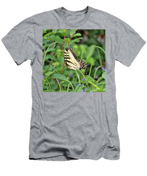 Swallowtail Butterfly In Flight Men's T-Shirt (Athletic Fit)