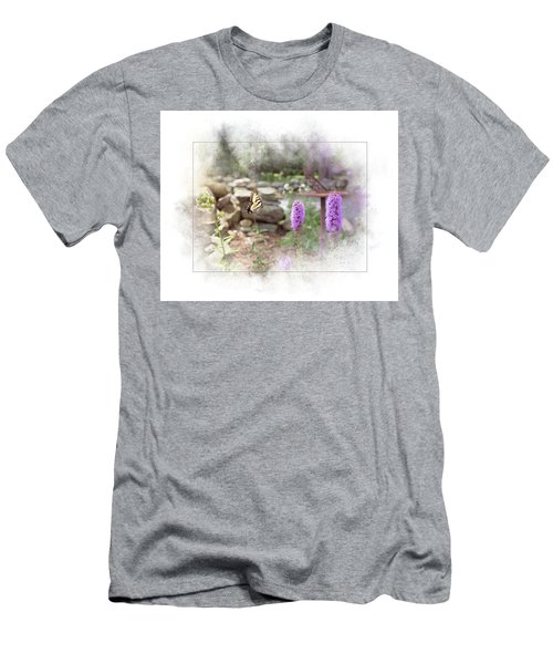 Men's T-Shirt (Athletic Fit) featuring the digital art Swallowtail by Sue Collura