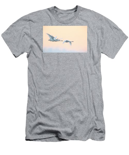 Swan Migration  Men's T-Shirt (Athletic Fit)