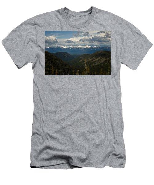 Swan Mountain Range Men's T-Shirt (Athletic Fit)