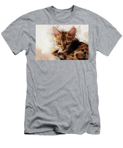 Sweet Bengal Kitten Men's T-Shirt (Athletic Fit)