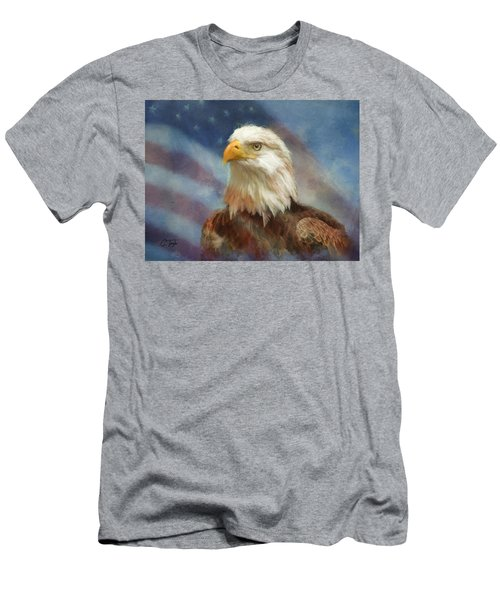 Sweet Land Of Liberty Men's T-Shirt (Slim Fit) by Colleen Taylor