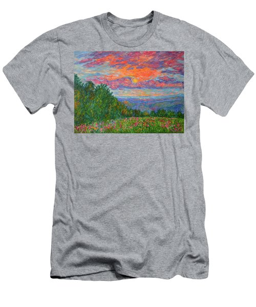 Sweet Pea Morning On The Blue Ridge Men's T-Shirt (Athletic Fit)