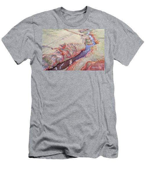 swift creek at  Colorado foothills - aerial view Men's T-Shirt (Athletic Fit)
