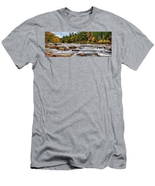 Swift River Runs Through Fall Colors Men's T-Shirt (Athletic Fit)