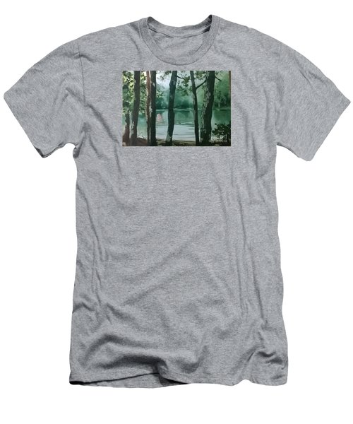 Swimming Hole Men's T-Shirt (Slim Fit) by Elizabeth Carr