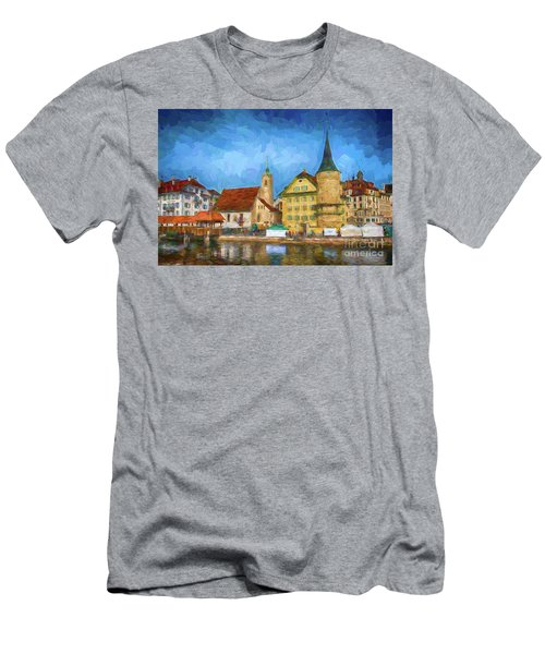 Swiss Town Men's T-Shirt (Slim Fit) by Pravine Chester