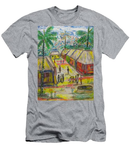 Men's T-Shirt (Slim Fit) featuring the painting Artwork On T-shirt - 0012 by Mudiama Kammoh
