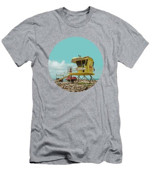 T7 Lifeguard Station Kapukaulua Beach Paia Maui Hawaii Men's T-Shirt (Athletic Fit)