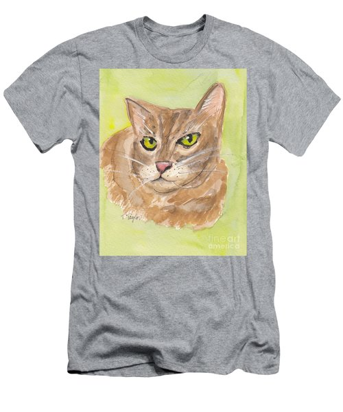 Tabby With Attitude Men's T-Shirt (Slim Fit) by Terry Taylor