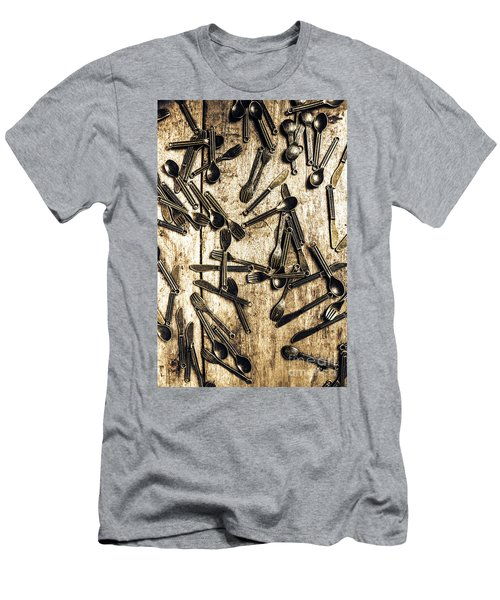 Tableware Abstract Men's T-Shirt (Athletic Fit)