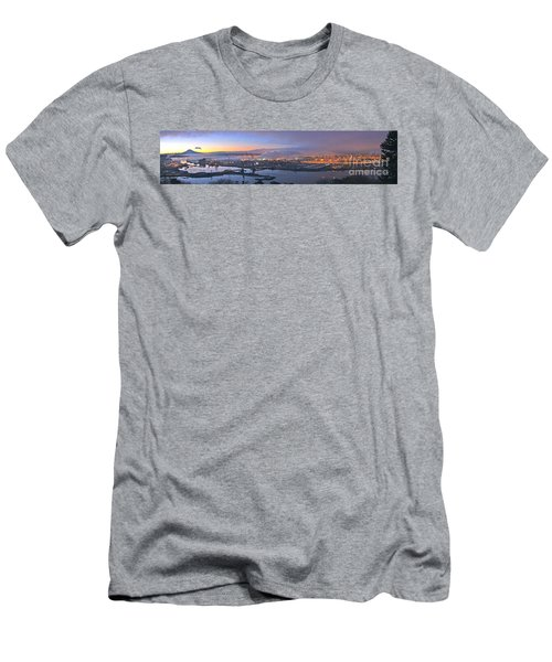 Tacoma Dawn Panorama Men's T-Shirt (Slim Fit) by Sean Griffin
