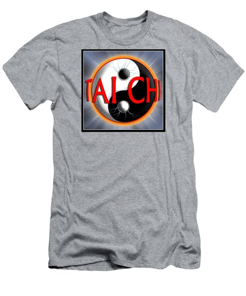 Men's T-Shirt (Slim Fit) featuring the digital art Tai Chi by Steve Sperry