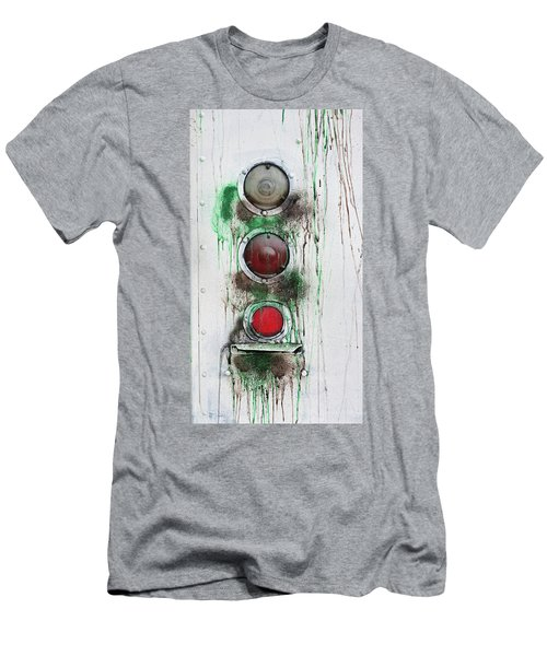 Men's T-Shirt (Athletic Fit) featuring the photograph Taillights On A Very Old Bus by Gary Slawsky