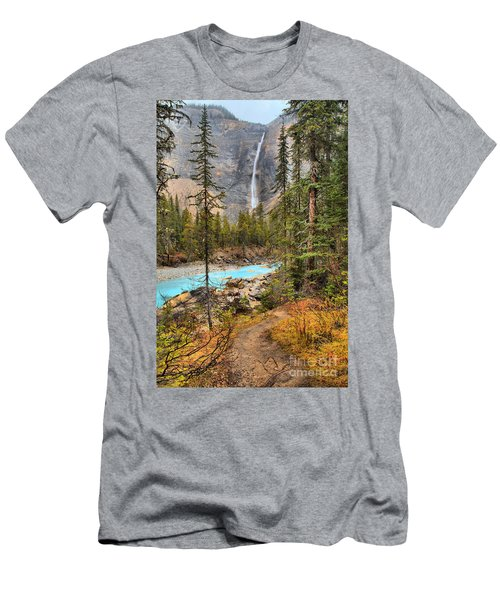 Men's T-Shirt (Slim Fit) featuring the photograph Takakkaw Falls Fall Portrait by Adam Jewell