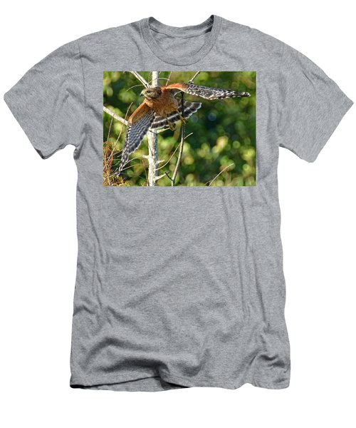 Men's T-Shirt (Slim Fit) featuring the photograph Take Off by Don Durfee