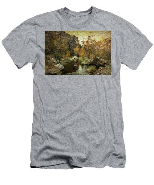 Taking A Hike Men's T-Shirt (Slim Fit) by Barbara Manis