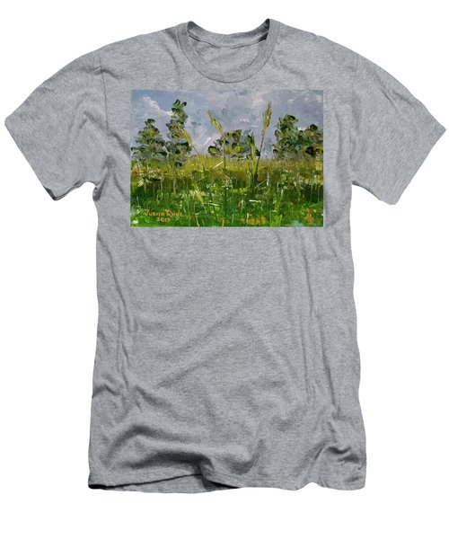 Men's T-Shirt (Athletic Fit) featuring the painting Tall Grass by Judith Rhue