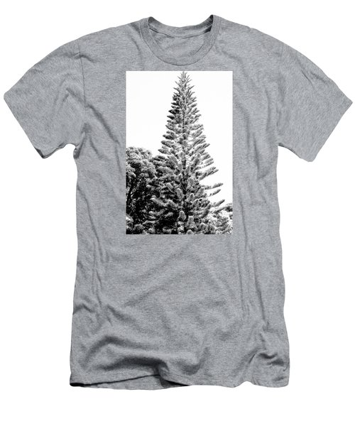 Men's T-Shirt (Slim Fit) featuring the photograph Tall Tree Bw - Lan11 by G L Sarti