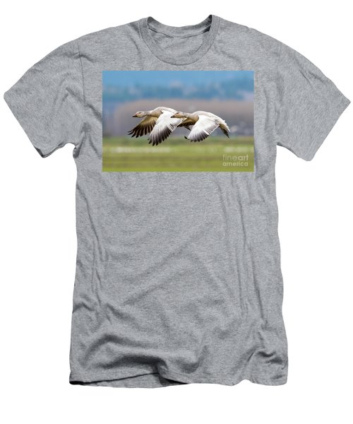 Men's T-Shirt (Slim Fit) featuring the photograph Tandem Glide by Mike Dawson