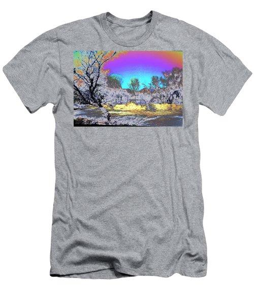 Tanque Verde Wash Abstract Men's T-Shirt (Slim Fit) by M Diane Bonaparte