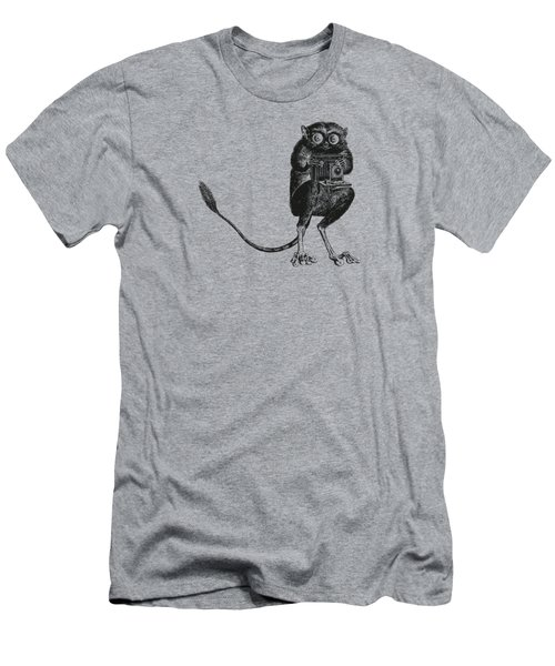 Tarsier With Vintage Camera Men's T-Shirt (Athletic Fit)