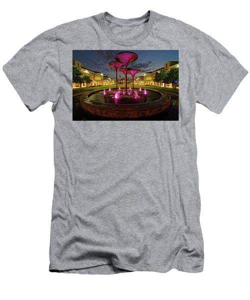 Men's T-Shirt (Slim Fit) featuring the photograph Tcu Frog Fountain by Jonathan Davison