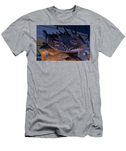 Men's T-Shirt (Slim Fit) featuring the photograph Tcu Frog Mascot by Jonathan Davison