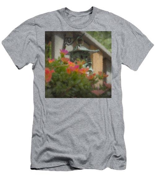 Tea Lantern And Portulaca Men's T-Shirt (Athletic Fit)